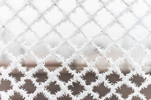 bitter-cold-vs-steel-fence-picjumbo-com